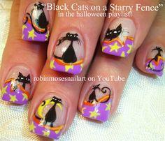 halloween kitties! by robinmoses - Nail Art Gallery nailartgallery.nailsmag.com by Nails Magazine www.nailsmag.com #nailart