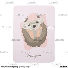 Baby Girl Hedgehog Swaddle Blanket