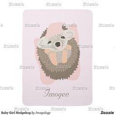 Baby Girl Hedgehog Swaddle Blanket