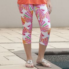 Ladies Custom Print Shell Arden Capri Leggings