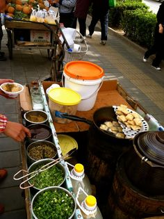 """Beijing's notorious 臭豆腐 (chòu dōu fu)  or """"stinky tofu"""". Only for the brave!"""