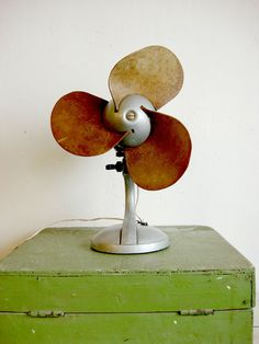 vintage Rare Soviet electric fan table 1973 от OldMoscowVintage