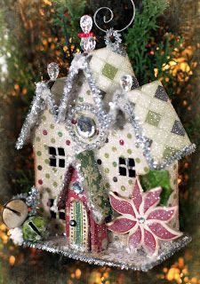Glue Arts: Join Us for Making Memories Week!! - Love this house! Link to Victoria website for pattern has a version of this house pattern decorated for a Harvest house. Would not be hard to alter. This is ornament size.