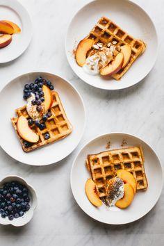 Sourdough Spelt Waffles