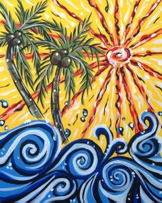 Palms on Water *Paint Nite* Buy tickets at paintnite.com
