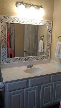 Diy Tile Framed Mirror