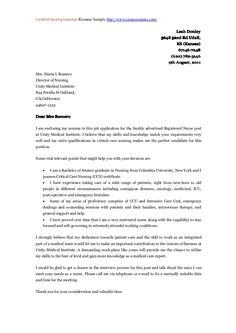 new grad nurse cover letter example cover letter recent - Nursing Graduate Cover Letter