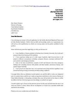 Ace Nursing Cover Letter Template   Newsinvitation.co