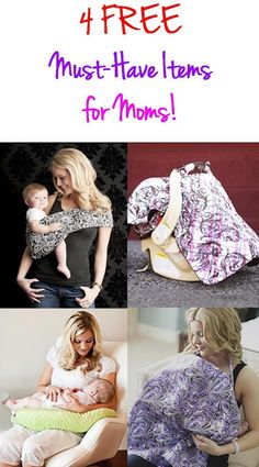 7 FREE Must-Have Baby Items: Sling Carrier, Breast Pads, Carseat Cover, Baby Leggings, Belly Bands, Nursing Pillow & Nursing Cover!