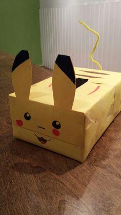 pikachu valentine box - Soccer Valentine Box