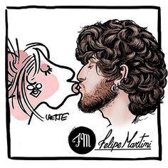 Beijaço no Laerte | Felipe Martini