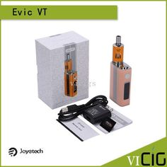 Original Joyetech Evic-VT Kit Evic VT E Cigarette With 5000mah Input Battery Sensitive Temperature Control Mod Joyetech eVic- VT is a uniquely different vaping mod, 60W power and 5000mah, comes with the new cutting edge technologyof temperature control, supports VT-Ti (Titanium), VT-Ni (Nickel 200) and  #Vapor http://vaper.ga/9m