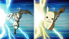 Ash and Pikachu team up with Dia and Zeraora to battle the menacing Ultra Beast, Guzzlord. Will their combined forces be enough to save (parallel) Alola? Pokemon Gif, Pokemon Fan Art, Pokemon Duel, Dog Pokemon, Pokemon Kalos, Pokemon Movies, Pokemon Charizard, Pikachu Pikachu, Best Pokemon Ever