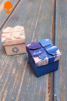 diy box Gift Box Origami For Christmas - DIY Tutorials Videos Diy Crafts Hacks, Diy Crafts For Gifts, Diy Arts And Crafts, Fun Crafts, Box Origami, Paper Crafts Origami, Paper Crafting, Diy Paper Box, Origami Envelope