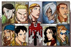 PLEASE NOTE: The line art used here is NOT MINE. Line art is by and used with permission. I am absolutely crazy about Bioware, and loved Dragon Age I. Company by Zet: Colour Attempt Dragon Age Rpg, Dragon Age Games, Dragon Age Series, Skyrim, My Fantasy World, The Old Republic, Game Art, Sketches, Deviantart