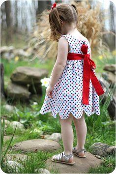 Annie Petal Dress: Girls Dress PDF Pattern by PeekabooPatternShop
