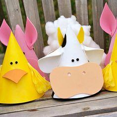Farm Animal Party Hats