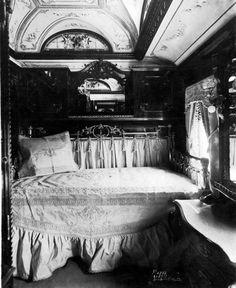 1890s - Interior of a Pullman Wood Car Bedroom