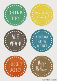 Birthday Beer Gift Tag {Printable}