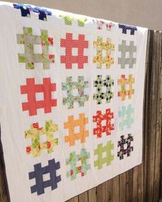 Nine Strip Hashtag Quilt Patterns to Bust Your Stash! Get 'Em Here on Craftsy