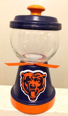 Chicago Bears candy jar http://squareup.com/market/erica-alejandre-2