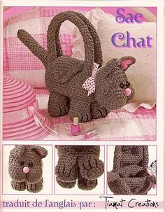 Sac Chat ( cat purse ) free pdf pattern (written in French)