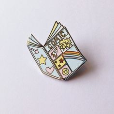 Comic book enamel pin  lapel pin  hat pin  pin badge by MightyPop
