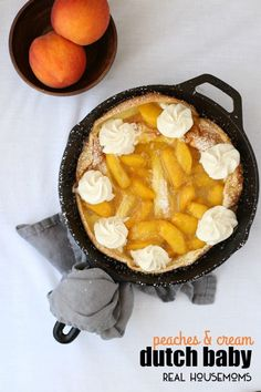 dutch baby with caramelized vanilla bean pears peach dutch baby the ...