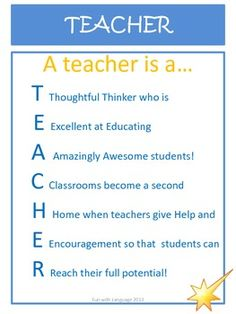 FREEBIE!  A teacher is a ...