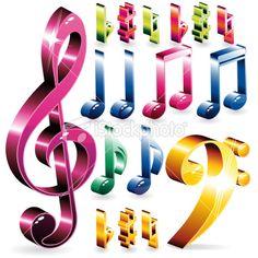 Music Symbols | Set of music symbols Royalty Free Stock Vector Art Illustration