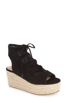 new arrival 38056 25f2a Espadrille Wedge, Soft Suede, Lace Up Sandals, Trendy Shoes, Wedge Shoes,