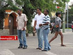 streets of dominican republic | Middle of the Street Talking, Dominican Republic Photo