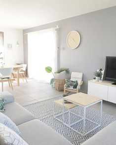 A house inside with trendy Scandinavian design furniture and Scandi home appliances in a predominantly neutral one. - Delaine Duffel - house inside with trendy Scandinavian design furniture and Scandi home appliance - Room Design, Apartment Living Room Design, Apartment Living Room, House Inside, House Interior, Scandinavian Furniture Design, Interior Design, Furniture Design, Living Room Designs