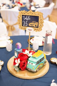 Patient weighed wedding centerpiece affordable view it now Disney Wedding Centerpieces, Flower Centerpieces, Wedding Themes, Wedding Events, Wedding Decorations, Disney Wedding Favors, Centerpiece Ideas, Wedding Ideas, Car Themed Wedding
