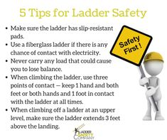 it is essential to practice caution when using a ladder few important ladder safety tips
