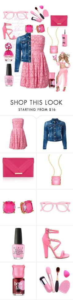 """""""Pink world"""" by princhelle-mack ❤ liked on Polyvore featuring Moschino Cheap & Chic, Dsquared2, Accessorize, Alexis Bittar, Kate Spade, OPI, Benefit and Marc Jacobs"""