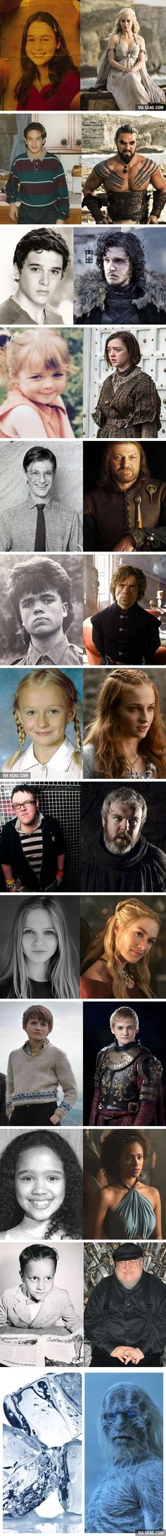 Game Of Thrones - then and now---OH MY GOD! Peter/Tyrion's hair!!!