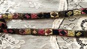 Art Deco Braid Dress Trim 1920s Woven Embroidery Gold Metallic Thread