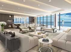Luxury apartments are offering outrageous amenities to attract tenants . Home Room Design, Home Interior Design, Living Room Designs, Living Room Decor, Condo Living, Interior Livingroom, Design Bedroom, Apartment Interior, Interior Ideas