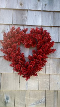 Valentines, Thanksgiving Wreath, Valentines day wreath, Christmasu Wreath Red Heart wreath, perfect for any time of the year, or that special lovers day! This wreath can be done in lots of color options - pinks, purples, reds... you name it! or mix and match (pinks and reds) - pricing may vary. ~Valentines Pinecones Heart Wreath~