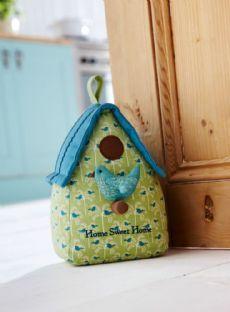 Bird House Door Stop - Fabric Door Stops | Home Accessories | Contemporary Homeware - The Present Season