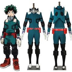 Mein Held Academia Midoriya Izuku Deku Held Cosplay Kostüm Cosplay (コスプレ kosupure), a portmanteau of the words costume play, is a performance art in which participants called cosplayers wear costumes and fashi. Izuku Midoriya Cosplay, Genderbent Cosplay, Deku Cosplay, Anime Cosplay Costumes, Cosplay Outfits, Anime Outfits, Cosplay Makeup, Edgy Outfits, Cute Outfits