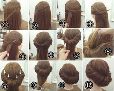 53 Ideas Hair Updos Chignon Hairdos For 2019 Up Hairstyles, Pretty Hairstyles, Braided Hairstyles, Wedding Hairstyles, Popular Hairstyles, 1800s Hairstyles, Edwardian Hairstyles, Prom Hair, Hair Dos