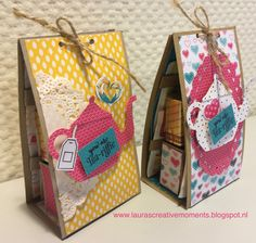 Merci Gift Box (+ tutorial) - Have a cuppa DSP, Stampin' Up!