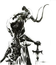StuffNThings - travisellisor:   Hellboy by Jae Lee
