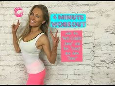 4 Minute Workout - Including The Anti-Cellulite Jump and Waist and Arm Toner - YouTube