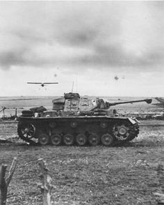 Panzer III and Fieseler Storch