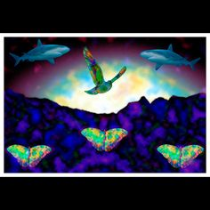 Lucid Dreaming, Sharks, Surrealism, Butterflies, Animals, Painting, Art, Art Background, Animales