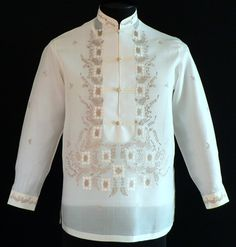 This new design brings new life to the classic Barong Tagalog look.Barongs R Us committed to offer qualitative and extensive range of original Barong suits, dresses, branded clothing, Barong Tagalog for men & Filipiniana dresses for women. Barong Tagalog Wedding, Barong Wedding, Wedding Attire, Groom Attire, Groom Suits, Groomsmen, Filipino Wedding, Filipiniana Dress, Philippines Fashion