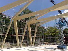 Behringer Ingenieure 2011 BW uni Gebäude 151 wood truss construction